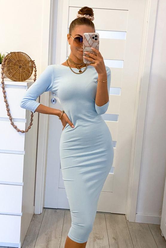 Šaty Mimikry, světle modré
