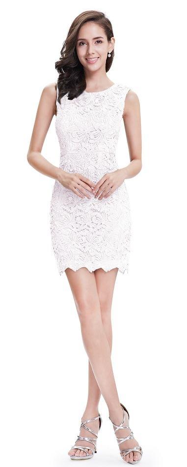 Krajkové pouzdrové šaty Mlha 008c9dc8a3