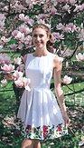 Šaty Flos, biele