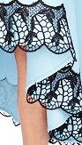 City Goddess šaty Asymetria, modré