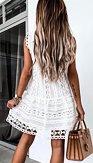 Boho šaty Krása labutí, bílé