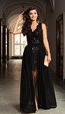 Exkluzívne spoločenské šaty 2v1 Beatrix, čierne