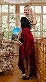 Maxi sukňa Marissa, vínová