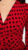 Šaty Gombík, červené s bodkami