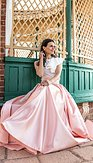 Maxi sukňa Sissi, ružové zlato