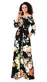 Šaty Květinová noc z V.I.P. kolekcie eShakti, čierne