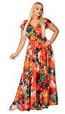 Maxi šaty Plamene leta, oranžové