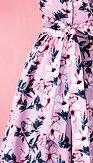 Šaty Zbierka motýlov, ružové