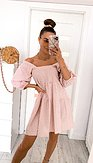 Boho šaty Rio, růžové